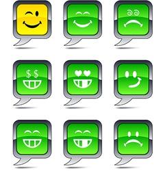 Smiley balloon icons vector image