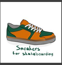 sneakers for skateboarding vector image vector image