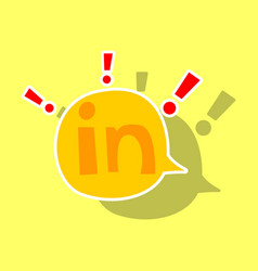 Sticker linkedin color icon glossy app icon logo vector