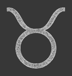 Taurus zodiac sign line art vector