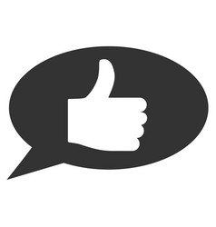 Thumb up message flat icon vector