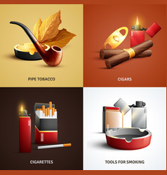 Tobacco products design concept vector