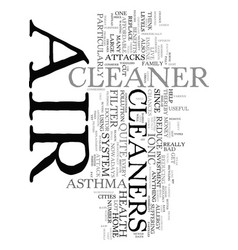 Your health and air cleaners text word cloud vector