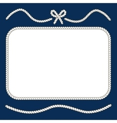 Nautical ropes and bow frame vector