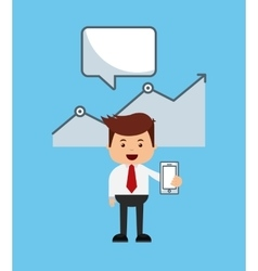 businessman avatar with bussines flat icons vector image