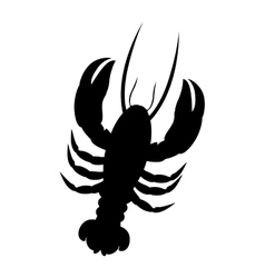 single lobster icon image vector image