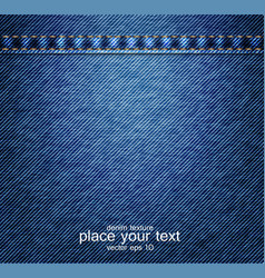 Denim texture vector image