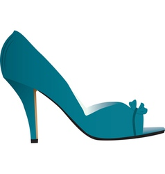 Woman high heeled shoe vector