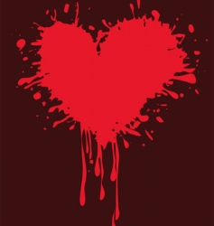 Valentine heart grunge illustration vector