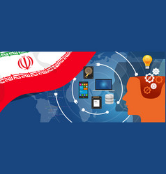 Iran information technology digital infrastructure vector