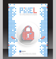 pixel protection concept vector image
