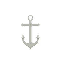 Sailing boat anchor flat cartoon vector