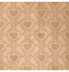 Vintage background with heart vector image