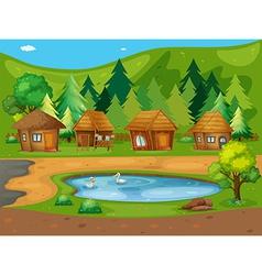 Huts vector image