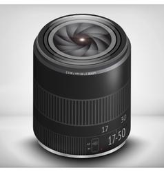 3d photo lens eps 10 vector