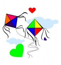 Kites with love vector