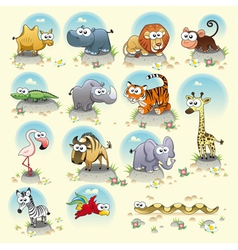Savannah animals vector