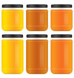 Honey jars vector