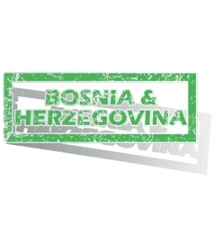 Outlined bosnia and herzegovina stamp vector