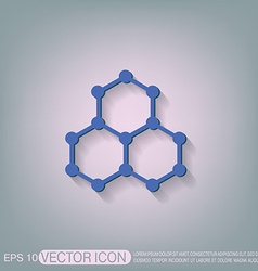 Chemical compound symbol chemistry icon science vector