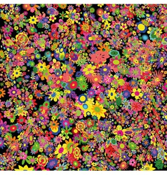 flowers field vector image