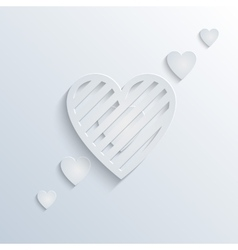 Papercage heart background vector