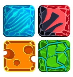Different materials and textures for game gems vector