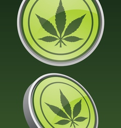 Pot leaf icon vector