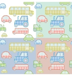 Car pattern for kids vector