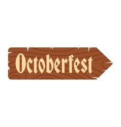 Oktoberfest road wooden sign icon vector