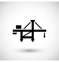Harbor crane icon vector