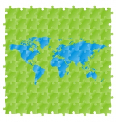 World maps with puzzle pattern vector