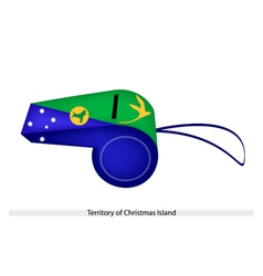 A whistle of territory of christmas island vector