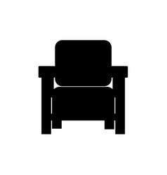 armchairs icon furniture silhouette vector image vector image