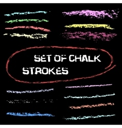 Chalk lines chalk hand drawn strokes vector