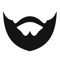 clipped beard icon simple style vector image