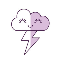 Cute fantasy cloud kawaii character vector