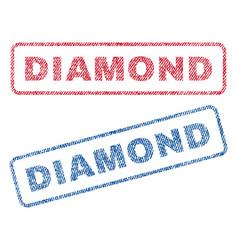 Diamond textile stamps vector