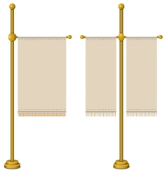 Flags on gold pole vector image vector image