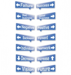 good bad signs vector image