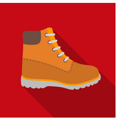 Hiking boots icon in flat style isolated on white vector