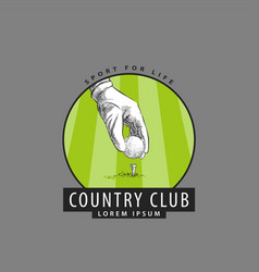 Logo for golf competitions vector