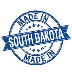 Made in south dakota blue round vintage stamp vector