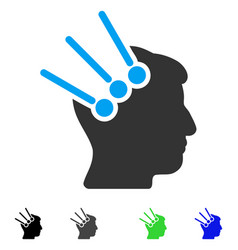 Neural interface connectors flat icon vector