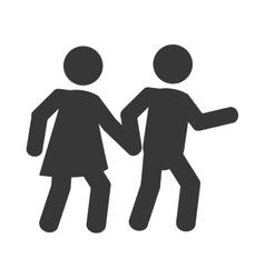 pedestrian pictogram icon vector image