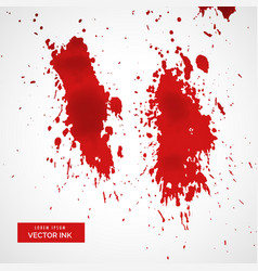 red blood splatter on white background vector image