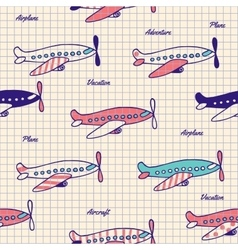 Seamless pattern on notebook sheet vector image