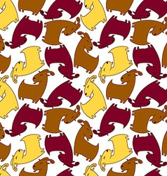 Seamless pattern with brown goat vector image vector image