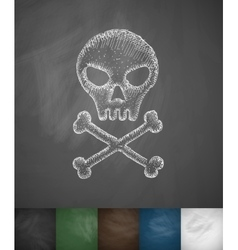 Sign fatal icon vector