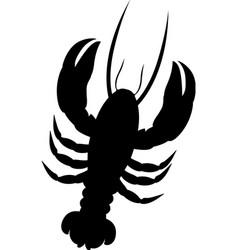Single lobster icon image vector